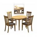 Dover Solid Oak Extending Dining Set
