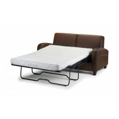 Retro Faux Leather Sofabed